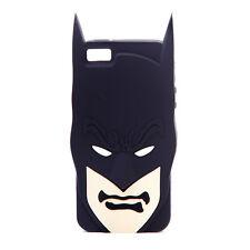 OFFICIAL DC COMICS BATMAN FACE RUBBER IPHONE 5 CASE *BRAND NEW*