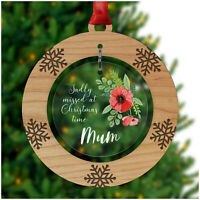 Christmas Remembrance PERSONALISED Memorial Ornament Bauble Mum Dad Nanny Wife