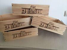 "4x Weinkiste Holz 3er Kiste Deko Wein Shabby Chateau Regal Kisten""VEGA SICILIA"""