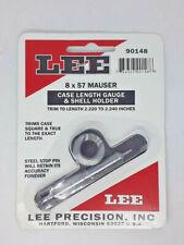 LEE 8 x 57 MAUSER CASE LENGTH GAUGE AND SHELL HOLDER. 90148