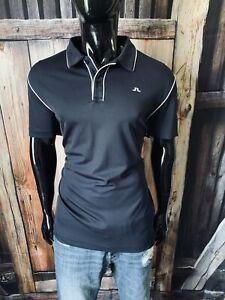 J.Lindeberg Short Sleeve Navy & White Polo Shirt Size XL Regular Fit Mint!