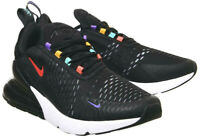 Nike Air Max 270 Mens Trainers Size 9 UK / EU 44 Black Multicolour Sneaker Shoes