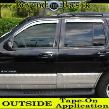 2002-2007 2008 2009 2010 Ford Explorer CHROME Door Vent Visors Window Rain Guard