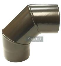 90 Degree Bend Elbow 6 Inch (150mm) Matt Black Vitreous Enamel Stove Flue Pipe