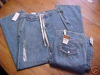 NEW womans Juniors pants OLD NAVY JEANS denim flap pockets 1 JR straight leg