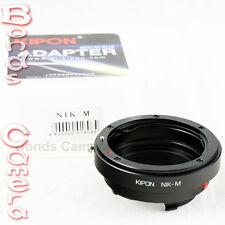 Kipon Nikon F AI mount lens to Leica M L/M Adapter M8 M9 M-E M 240 Ricoh GXR A12
