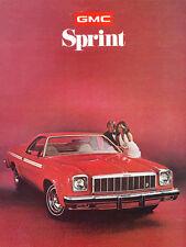 1975 GMC Truck Sprint Original Sales Brochure Folder - El Camino