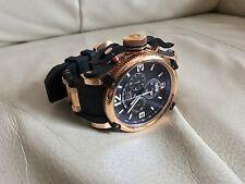 New Mens Invicta 12434 Russian Diver Swiss Chronograph Black Rubber Strap Watch