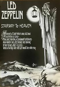 Led Zeppelin Stairway To Heaven Original Vintage Out of Print 23.5 X 33 Poster