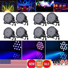 8PCS 36 LED RGB Stage Lighting PAR Light +8 Remote DMX512 Party Disco DJ Lights