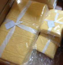 Pottery Barn Hanna Quilt Set Marigold King 2 Euro Shams Wholecloth Yellow New