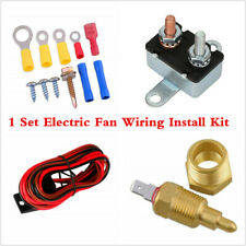 1 Set Electric Fan Wiring Installation Kit Complete Thermostat 60 Amp Relay 185°