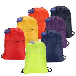 Premium Drawstring School Bag Sport Gym Sack Swim PE Kit Shoe Bag Lot Reinforced