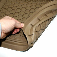 All-Weather Floor Mats Set - Tan Rubber Universal Interior for Auto-Car-Truck