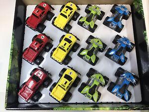 Lot of 12 Cars ATVs Trucks Cross-Country Star Racer ~ Countertop Retail Display