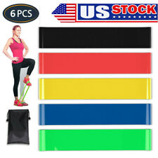 Resistance Bands Set  Loop Strength Fitness Leg Exercise Yoga Workout Pull Up