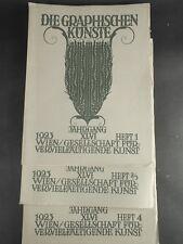 Die Graphischen Künste Wien 1923 - kompletter Jahrgang Heft 1-4 mit 5 Beilagen