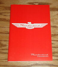 1955 Ford Thunderbird Owners Operators Manual 55