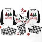 Family Matching Christmas Pajama Set Christmas Tree Tops Pants 2PCS Xmas Outfits