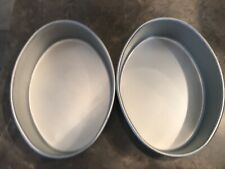 LOT 2 WILTON OVAL TWIN CAKE PANS EASTER EGG SHAPE