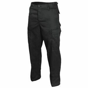 US Ranger BDU Trousers - Black Soldier Army Cargo Pants Military New - XS - 7XL