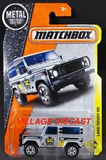 2017 Matchbox #48 Land Rover 90 SILVER/TAYLOR CONSTRUCTION/MOC