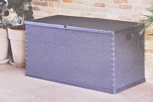 TOOMAX Auflagenbox Kissenbox 420L 120x57x63cm Anthrazit Gartenbox wasserdicht