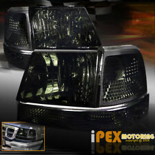 (SHINY SMOKE) 1998 1999 2000 Ford Ranger Headlights W/ Corner Signal Lights Lamp