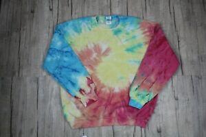 Vintage Multicolor Tie Dye Spiral Crewneck Sweatshirt Size Large