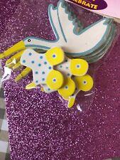 Craft Embellishments New Baby Stork Pram 8cm x 8cm