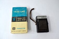 Vintage TrueTone 6 Transistor Pocket Radio Model DC3316 & Case, Original Box