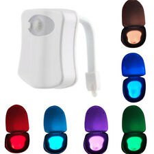 8 Colors LED Toilet Bathroom Night Light Motion Activated Seat Sensor Lamp