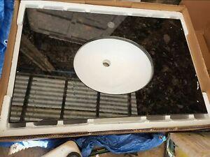 Bathstore granite vanity top undermount oval sink 787 x 508cm