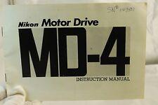 Nikon Motor Drive MD-4 Instruction Manual 6102062