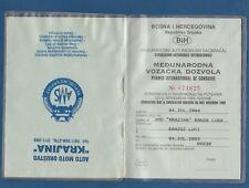 BOSNIA (Republika Srpska) Driving license, PERMIS INTERNATIONAL DE CONDUIRE 2003