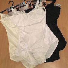 BHS Shapewear Medium Control Bodysuit 34 - 40, B - E Wired Jacquard Lace Body