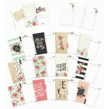Carpe Diem BLOOM - Personal Size - Monthly Planner Inserts Set also fits Filofax