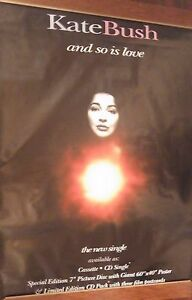 """40x60"""" HUGE SUBWAY POSTER~Kate Bush 1993 And So Is Love Red Shoes Original NOS~"""
