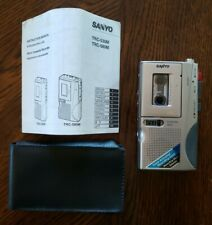 Sanyo TRC-580M Silver Microcassette Dictating Voice Recorder w/ Manual & Case