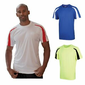 AWDis Just Cool Contrast t-Shirt (JC003) - Various Designs - Keep Fit / Running