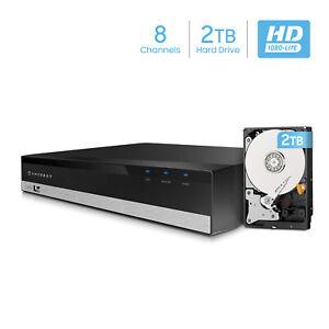 Amcrest 1080-Lite 8CH HD Video Security DVR Digital Recorder  AMDVTENL8 2TB HDD