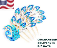 Crystal Peacock Hair Comb Hairpin Clip Vintage Accessories Bridal Bridesmaid
