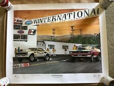 Tim Frederick Pro Stock Pioneers print Grumpy Jenkins Ronnie Sox SIGNED NHRA