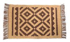 Handmade Geometric Jute Wool Door Mat Bohemian Rug 2x3 Feet DN-2048