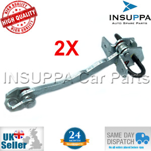 2X FRONT CHECK STRAP DOOR HINGE FOR VAUXHALL OPEL ASTRA G MK4 2/3 DR 160245