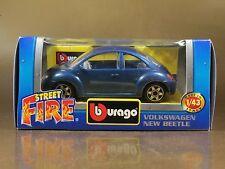 [PI3-53]BBURAGO BURAGO 1/43 STREET FIRE #4172 VOLKSWAGEN NEW BEETLE BLU BLUE NIB