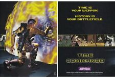 Original 1996 TIME COMMANDO PlayStation video game two-page teaser print ad