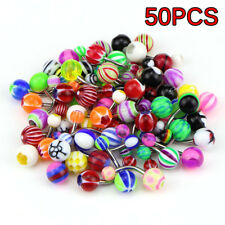 50/100PCS Belly Button Navel Button Ring Bars Stain Steel Body Piercing Jewelry