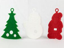 3D Keksausstecher Set 3tlg, Weihnachten, Weihnachtsbaum Weihnachtsmann Schneeman
