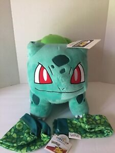 Build a Bear Pokemon Bulbasaur with Sound, Scarf, Hat, Certificate, Brand New